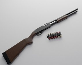 3D Remington 870 Classic