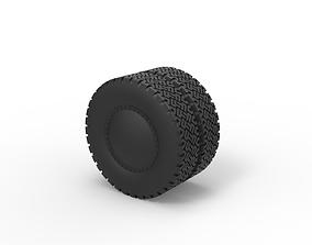 3D print model Diecast Double wheel 2