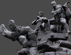 Batman y Robin 3D print model league