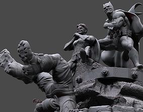 3D printable model Batman y Robin