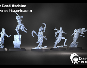 3D print model Erinyes Maleficarum pre-supported modular 1