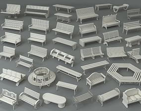 Benches - Part - 2 - 40 pieces 3D