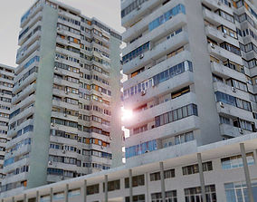 3D asset Communist Residential Towers