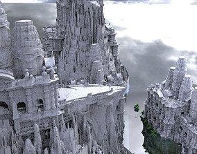 Ancient fantasy Mayan temple collection Kitbash 3D model
