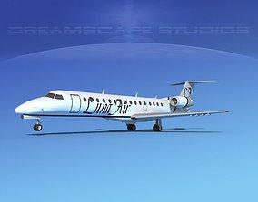 3D model Embraer ERJ-140 Luna Air