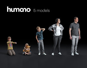 Humano 5-Pack - PEOPLE - CASUAL - HOME - 5x 3d 1