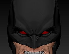 3D print model Flashpoint Batman Head Sculpt- Angry Head