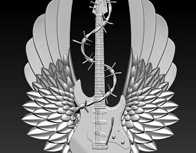 3D print model Detailed Rock and Roll Electric Guitar 2