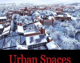 3D model Modern House Infrastructure in Winter