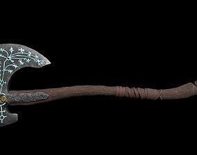 3D asset Leviathan Axe-Textured- Game Ready Model