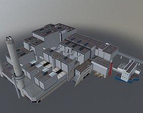 Amsterdam Westpoort Afvalverbrander 3D model
