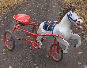 3D Vintage Soviet Horse Tricycle Pedal Car