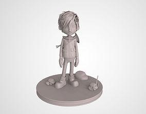 Music Cartoon Boy 3D Print High Detailed Model