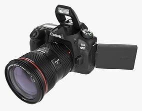 Canon EOS 90D DSLR camera EF 24-70 II USM Lens 02 3D model