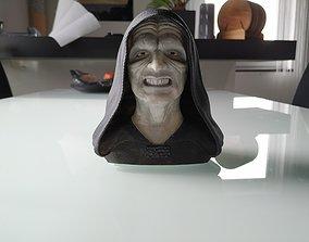 Palpatine Darth Sidious Bust 3D print model