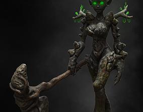 Female Earth Elemental 3D asset