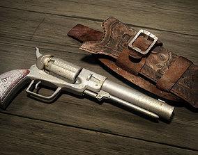 Wild West Pistol - Revolver with Holster 3D