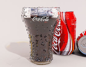 COCA COLA GLASS AND CAN 3D MODEL