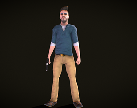 Blake - the adventurer -Free Low Poly animated animated