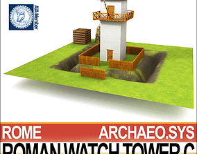 Roman Watch Tower C 3D