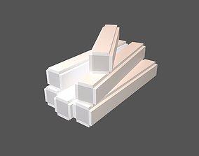 Voxel Wood Log v2 005 3D model