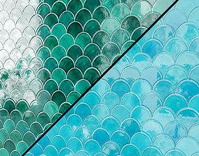3D Medium Moroccan Fish Scales Wall tiles