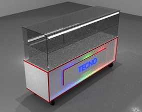 Shop or store display showcase 3D model