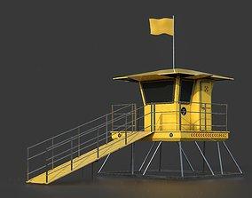 Lifeguard tower 3D asset game-ready