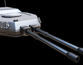 modern tank turret 3d model