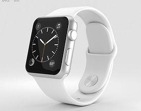 Apple Watch Series 2 38mm Silver Aluminum Case 3D model 2