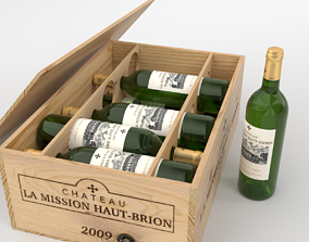 Chateau La Mission Haut-Brion Blanc bottle box Blender 3D
