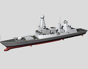 3D model HMS Type45 Destroyer
