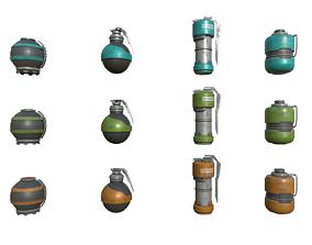 Sci Fi Grenades 3D asset