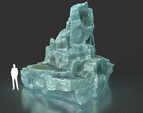 3D asset Low poly Ice Block 08 200226