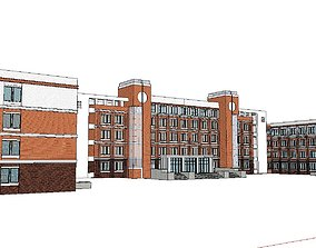Office-Teaching Building-Canteen 04 3D model