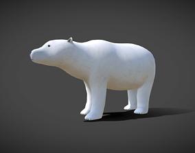 animals Polar Bear 3D asset animated