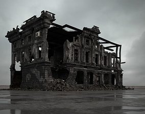 3D model destroyed building 095 am165