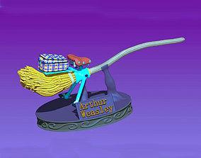 Arthur Weasley magic broom 3D print model