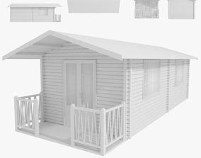 Wood Cabin Type 1 3D