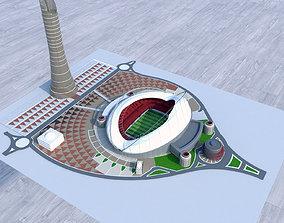 3D Khalifa International Stadium Qatar 2022 World cup
