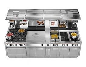 3D model Modular Kitchen Angelo Po ICON9000