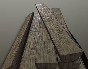 Woodwork woodlog PBR 3D model VR / AR ready