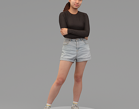 A Young Woman With Arms Crossed 3D
