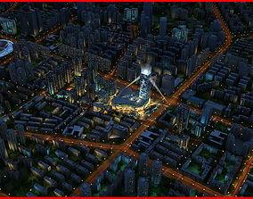 Modern City Animated 038 3D model