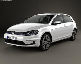 3D model electric Volkswagen e-Golf 2015