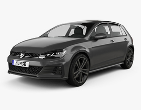 Volkswagen Golf GTD 5-door 2017 3D