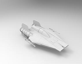 RZ-1 A-wing interceptor 3D print model