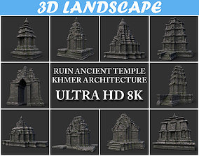 3D model Ruin Ancient Temple - Khmer Architecture Pack B