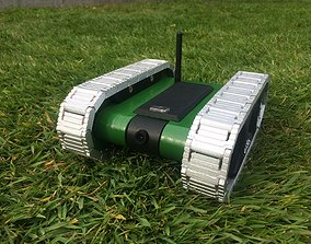 3D printable model RC FPV tank rover