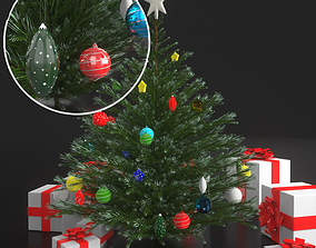 3D model interior evergreen Christmas tree
